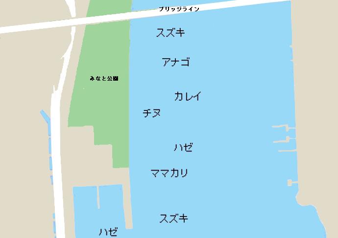 玉島港ポイント図