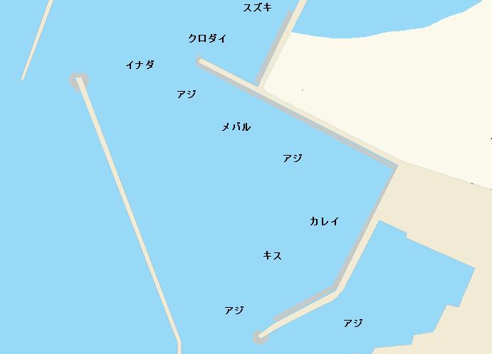 寺泊港ポイント図