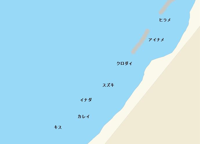 米山海岸ポイント図