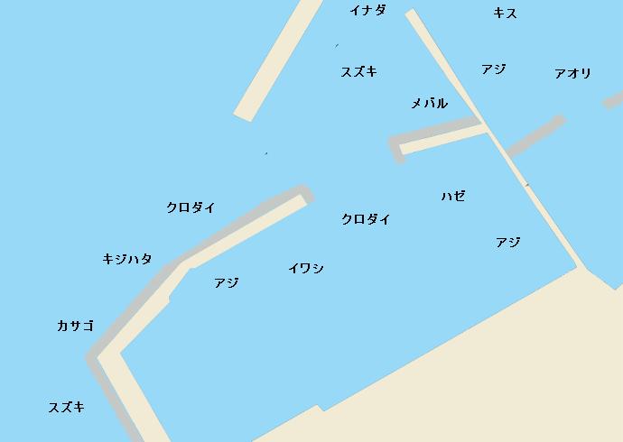 浦本漁港ポイント図
