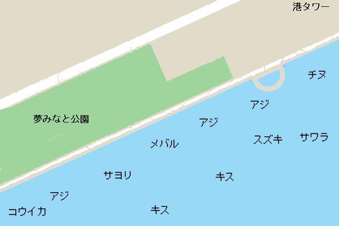 夢みなと公園ポイント図