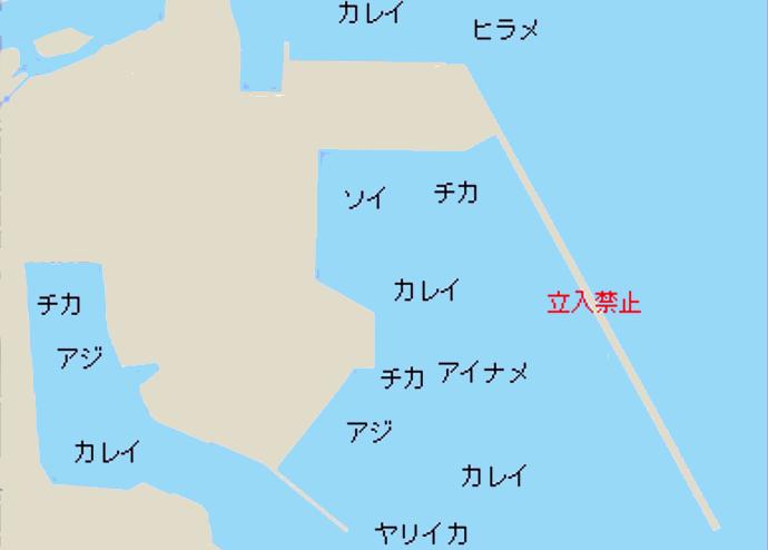 岩手久慈港ポイント図