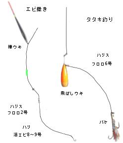 エビ撒き釣法・タタキ釣り