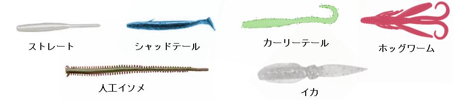 アジングワームの種類