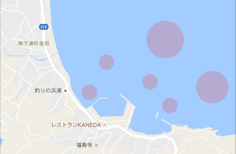 金田湾のボート釣りポイント