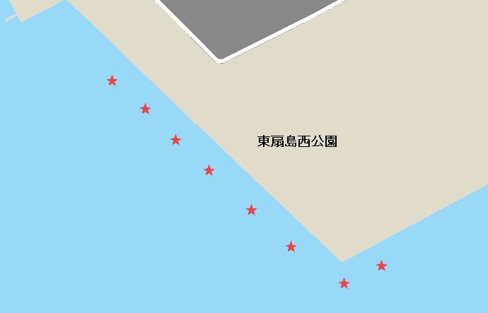 東扇島西公園のアジポイント