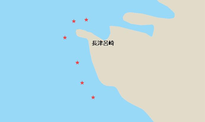 城ヶ島長津呂崎のポイント
