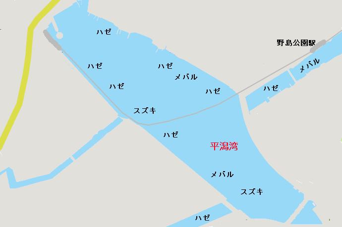 平潟湾ポイント図