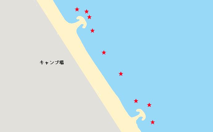波崎海岸ヒラメポイント