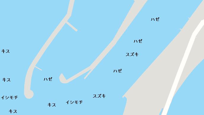 境川河口ポイント図