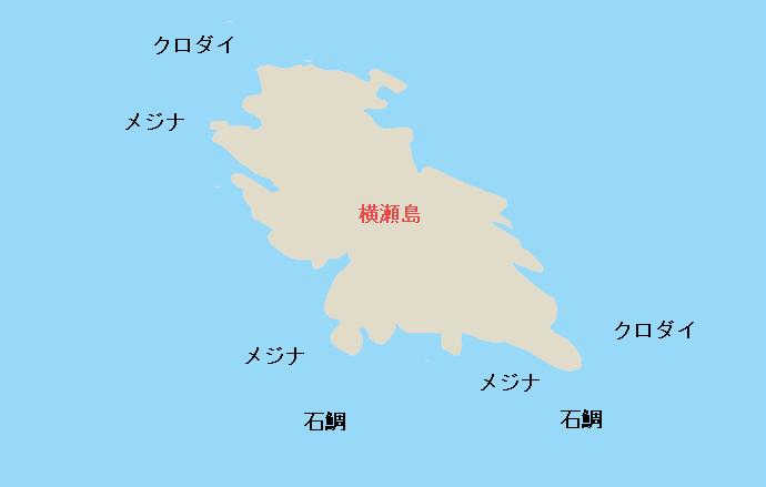 横瀬島ポイント図