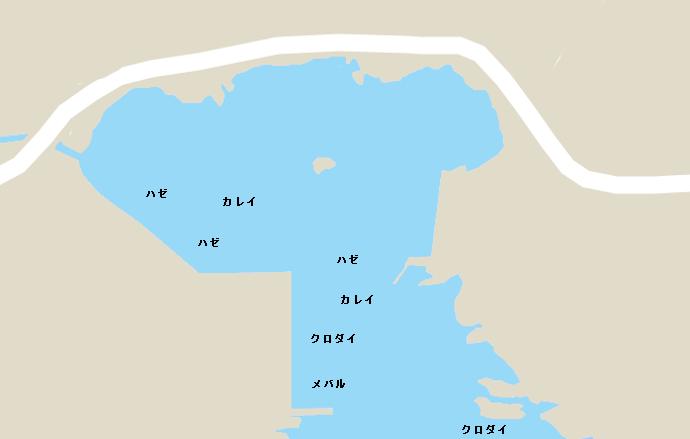 毘沙門港のポイント