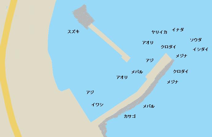 江之浦港ポイント図