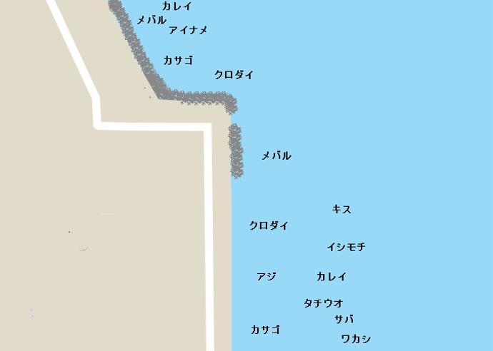 福浦岸壁(金沢三号地)のポイント