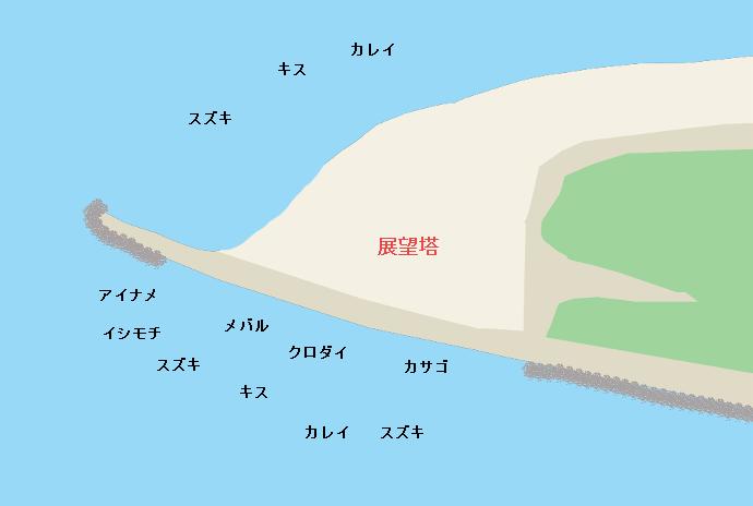 富津岬ポイント図