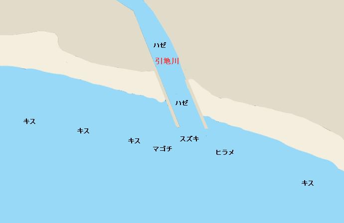引地川河口ポイント図