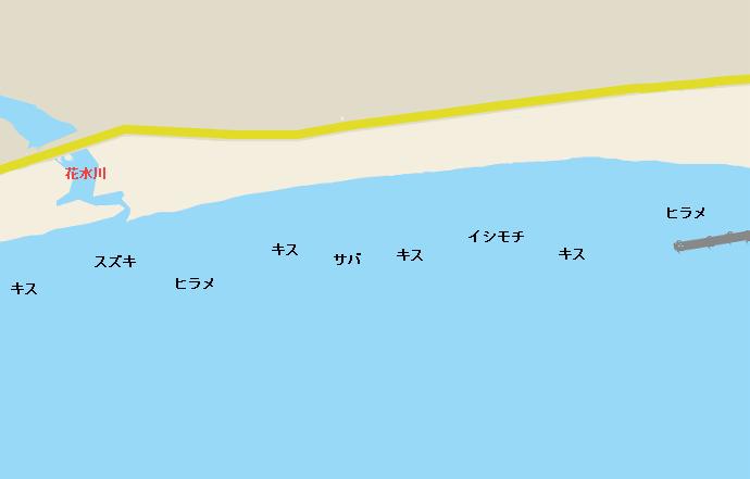 平塚海岸ポイント図