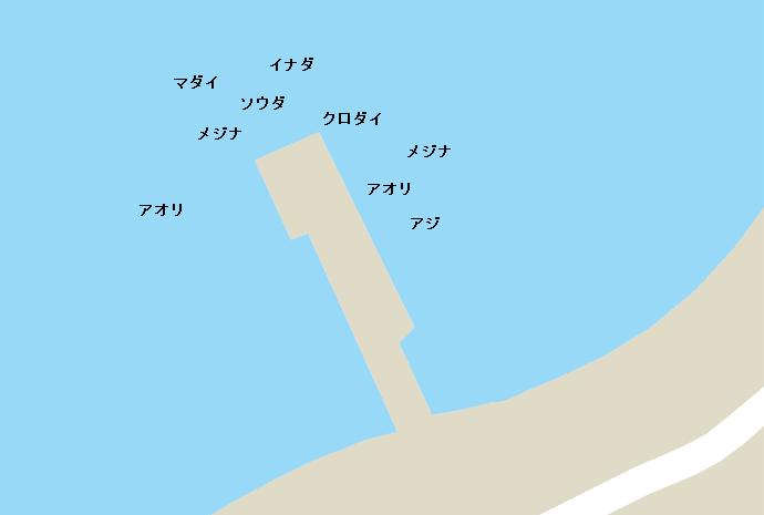 井田港ポイント図