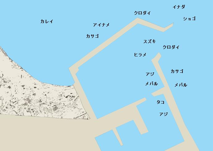 鹿島灘港ポイント図