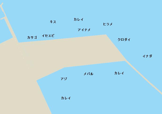 鹿島港北新堤ポイント図