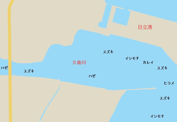 久慈川河口ポイント図