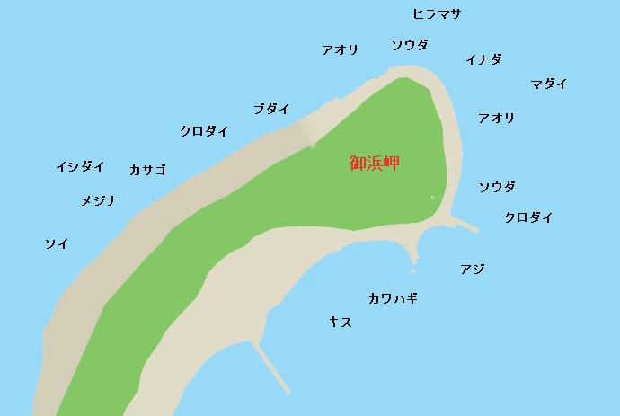 御浜岬ポイント図