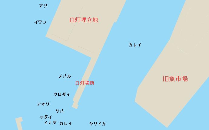 三崎港白灯堤防のポイント