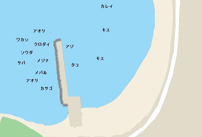 三戸浜堤防(初声漁港)のポイント