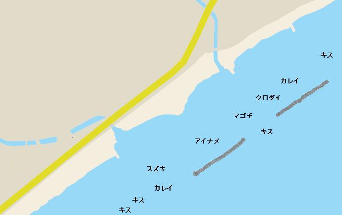 野比海岸ポイント図
