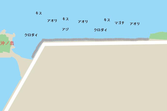 沖ノ島護岸ポイント図