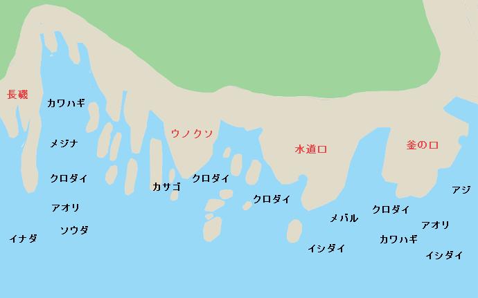 江ノ島表磯のポイント
