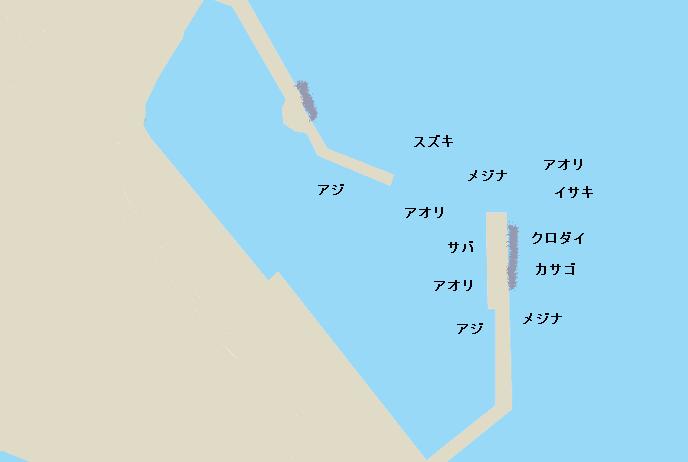 大瀬港ポイント図