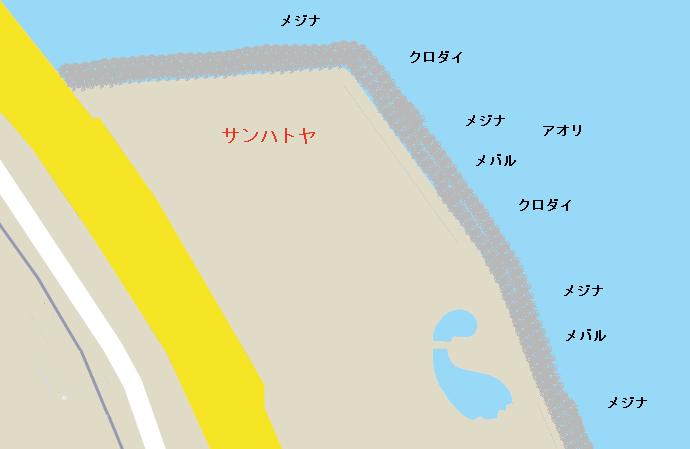 サンハトヤ裏ポイント図