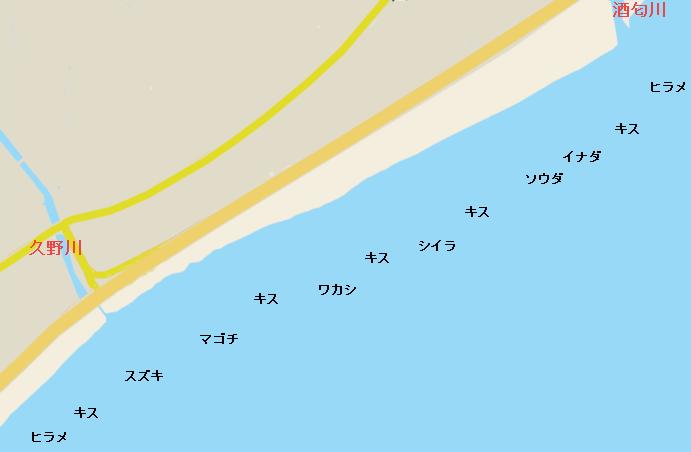 山王海岸ポイント図