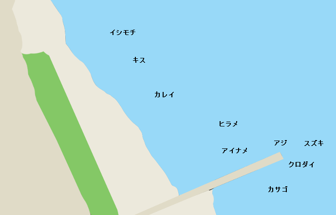 下津海岸ポイント図