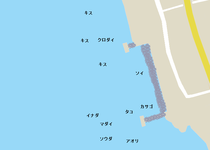 獅子浜突堤ポイント図