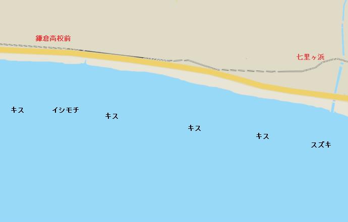七里ヶ浜ポイント図