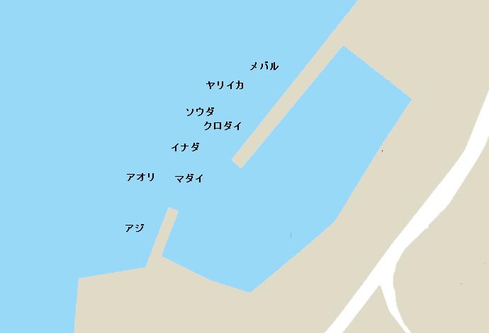 重寺港ポイント図