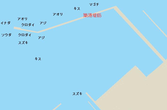 築港堤防ポイント図