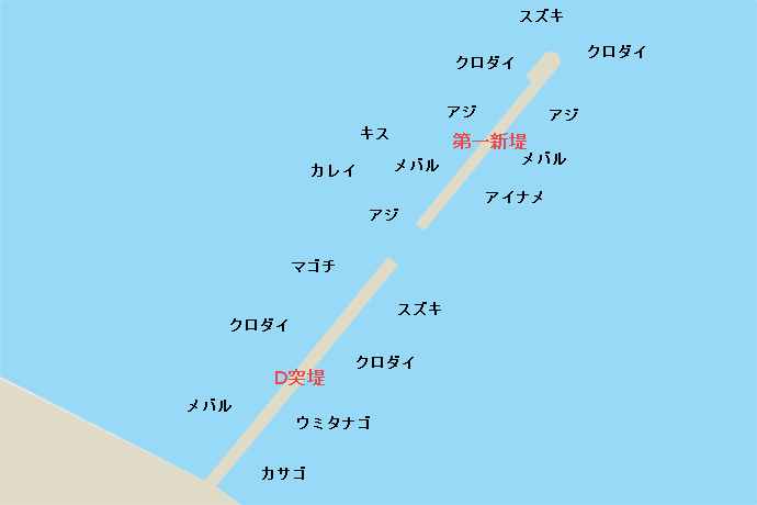 横浜沖堤 第一新堤防・D突堤
