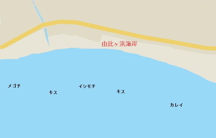 由比ヶ浜海岸ポイント図