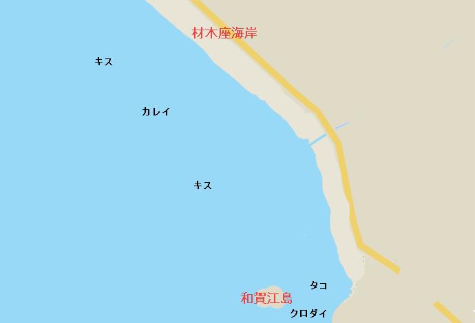 材木座海岸ポイント図