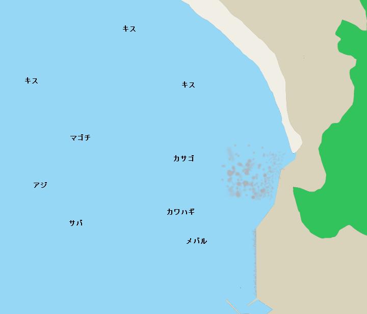 材木座沖ポイント図