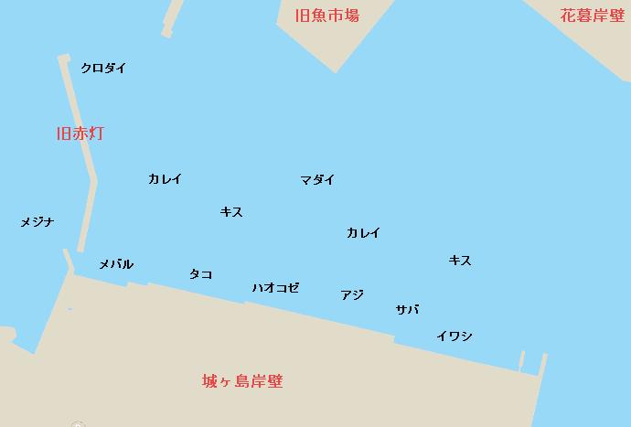 城ヶ島岸壁のポイント