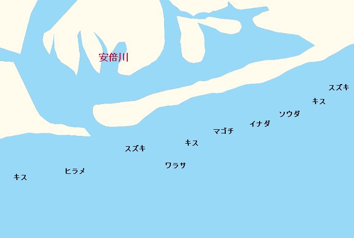 安倍川河口ポイント図