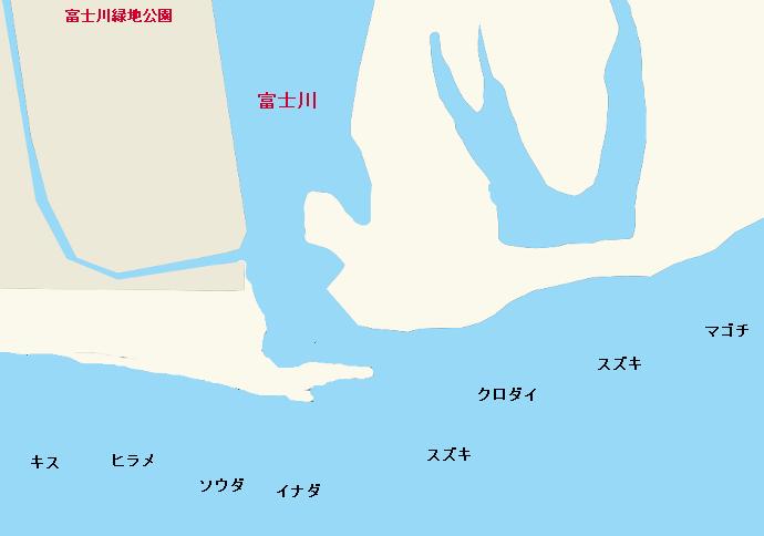 富士川河口ポイント図