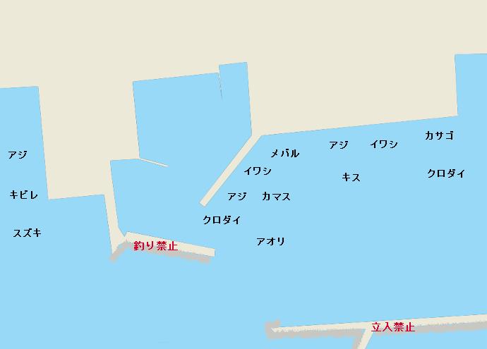 福田漁港のポイント