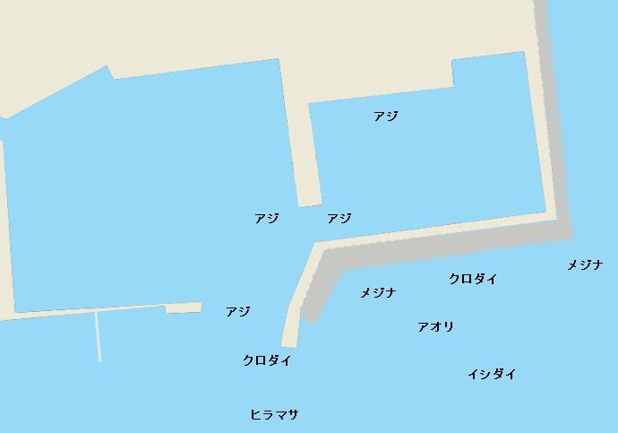 浜行川港ポイント図