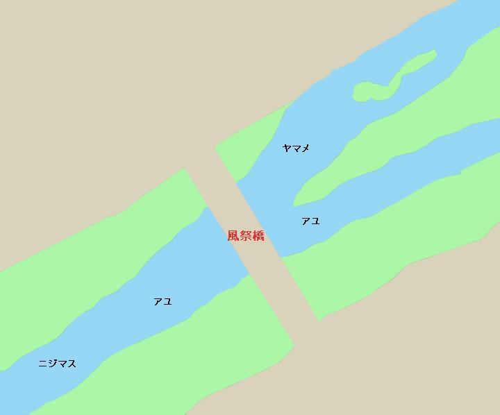 早川風祭橋周辺のポイント