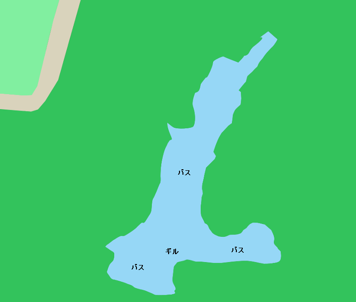 久木大池ポイント図